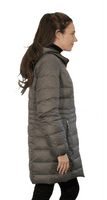 Reversible Feather Down Padded Charcoal-Black Coat db924